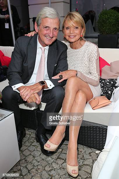Uschi Glas and her husband Dieter Hermann during the MercedesBenz reception at 'Klassik am Odeonsplatz' 2016 on July 17 2016 in Munich Germany