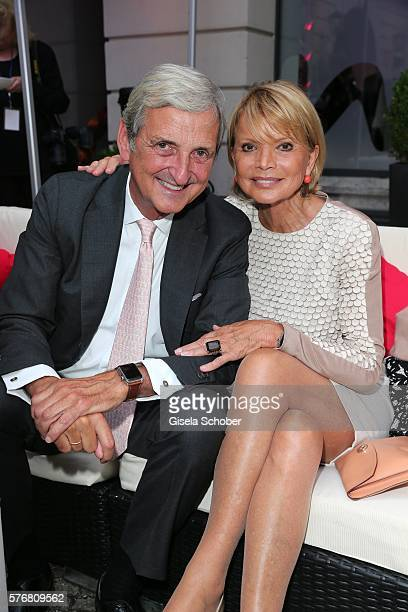 Uschi Glas and her husband Dieter Hermann during the Mercedes-Benz reception at 'Klassik am Odeonsplatz' 2016 on July 17, 2016 in Munich, Germany.