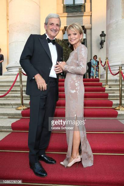 Uschi Glas and her husband Dieter Hermann during the traditional Buehnendinner 2018 at Bayerische Staatsoper on September 17 2018 in Munich Germany