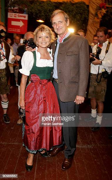 Uschi Glas and husband Dieter Hermann attend the Oktoberfest 2009 at Hippodrom at the Theresienwiese on September 20 2009 in Munich Germany...