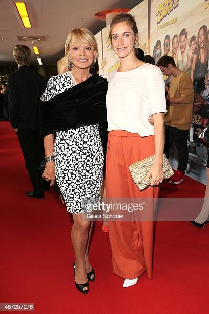 Uschi Glas and Miriam Stein during the world premiere of 'Fack ju Goehte 2' at Mathaeser Kino on September 7, 2015 in Munich, Germany.