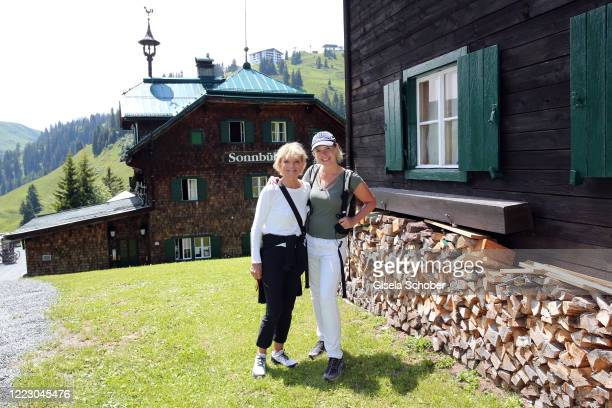 """Uschi Glas, Anja Thyssen during the first Ladies Day and start of the """"Queens Club"""" hosted by Maria Hoefl-Riesch on June 26, 2020 at Berggasthof..."""