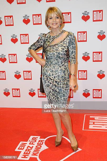 Uschi Glas attends 'Ein Herz Fuer Kinder Gala 2012' Red Carpet Arrivals at Axel Springer Haus on December 15 2012 in Berlin Germany