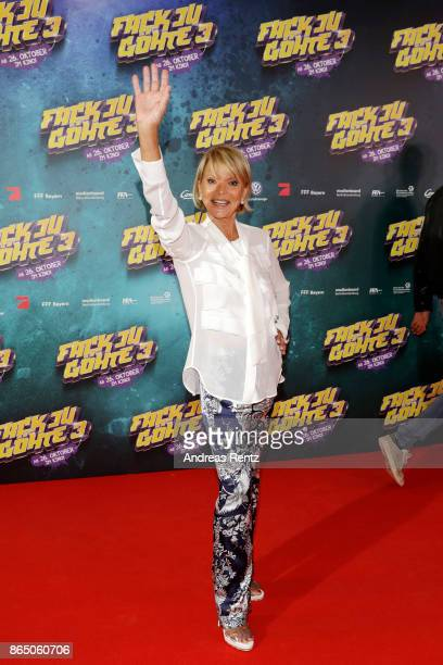 Uschi Glas attends the 'Fack ju Goehte 3' premiere at Mathaeser Filmpalast on October 22 2017 in Munich Germany