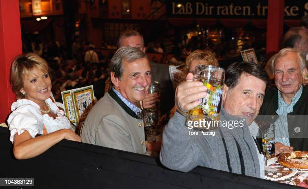 Uschi Glas Dieter Hermann and Udo Juergens attend the Baldesarini at the second evening at the Hippodrom during Oktoberfest 2010 at Theresienwiese on...
