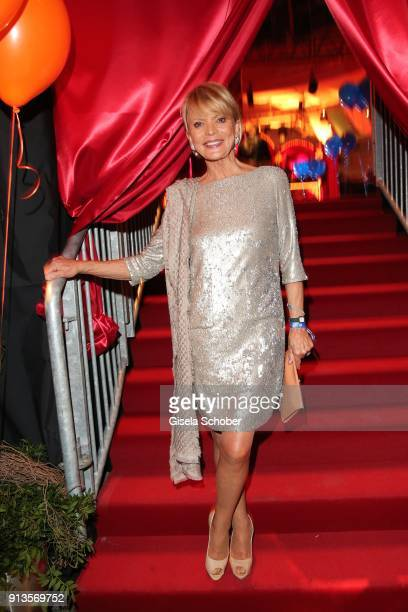 Uschi Glas during Michael Kaefer's 60th birthday celebration at Postpalast on February 2 2018 in Munich Germany