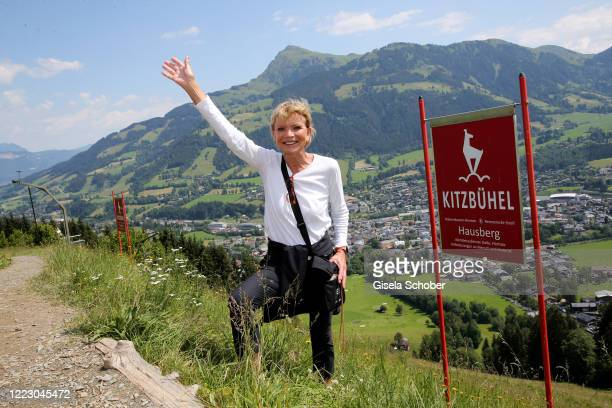 """Uschi Glas during the first Ladies Day and start of the """"Queens Club"""" hosted by Maria Hoefl-Riesch on June 26, 2020 at Berggasthof Sonnbuehel in..."""