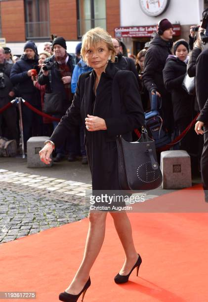 Uschi Glas during the memorial service for Jan Fedder at Hamburger Michel on January 14 2020 in Hamburg Germany German actor Jan Fedder was diagnosed...