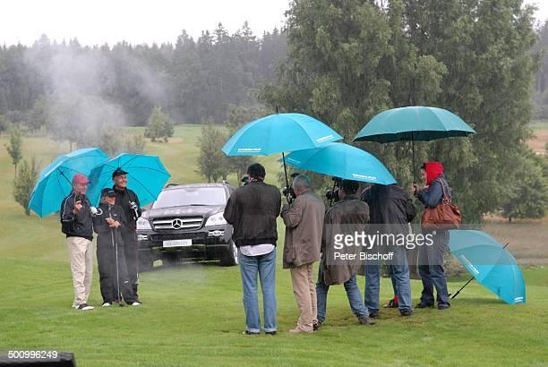 Uschi Glas Frank Wössner Dr Dieter Frank Presse GolfVeranstaltung Bavaria Film Cup 2007 Golfclub München Riedhof München Bayern Deutschland Europa im...