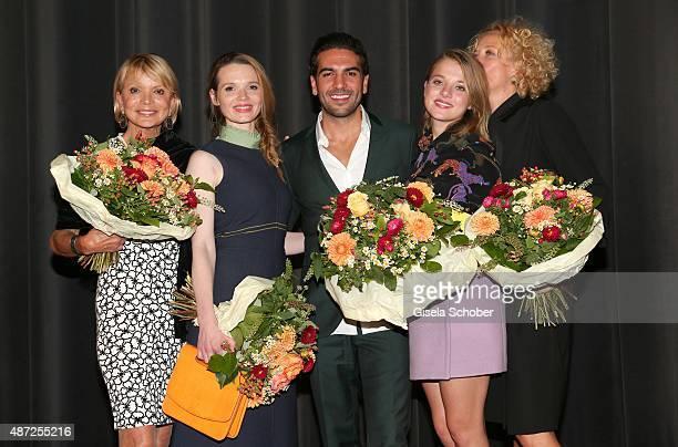 Uschi Glas Karoline Herfurth Elyas M'Barek Jella Haase Katja Riemann during the world premiere of 'Fack ju Goehte 2' at Mathaeser Kino on September 7...