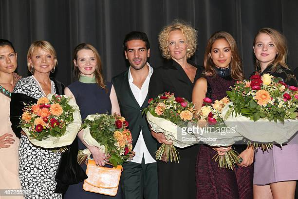 Uschi Glas Karoline Herfurth Elyas M'Barek Katja Riemann Gizem Emre and Jella Haase during the world premiere of 'Fack ju Goehte 2' at Mathaeser Kino...
