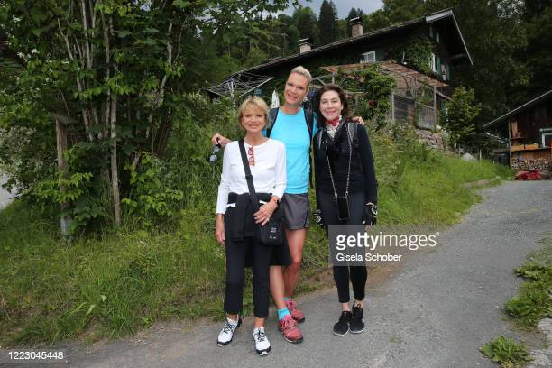 """Uschi Glas, Maria Hoefl-Riesch and Alexandra von Rehlingen during the first Ladies Day and start of the """"Queens Club"""" hosted by Maria Hoefl-Riesch on..."""