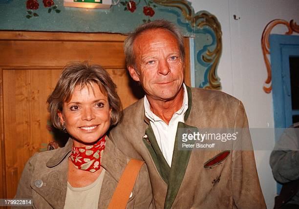 Uschi Glas mit Ehemann Bernd Tewaag,;Münchner Oktoberfest 98,