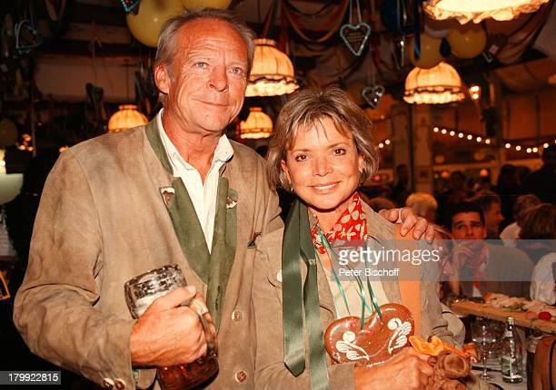 Uschi Glas mit Ehemann Bernd Tewaag;Münchner Oktoberfest 98,