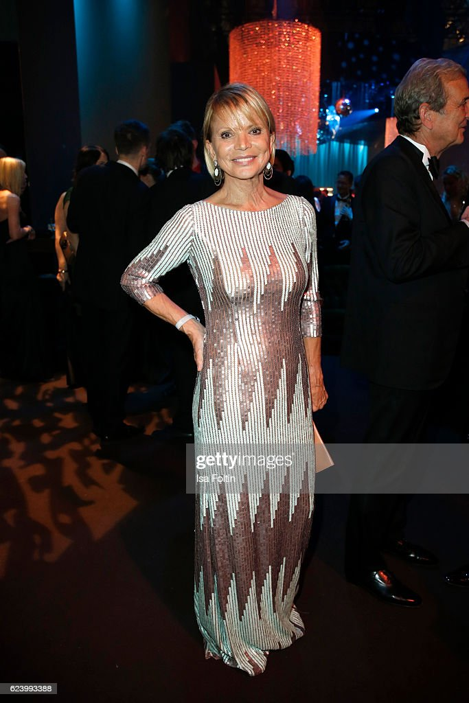 Uschi Glas poses at the Bambi Awards 2016 party at Atrium Tower on November 17, 2016 in Berlin, Germany.