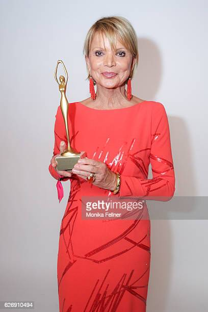 Uschi Glas presents her award at the Look Women of the Year Awards at City Hall on November 30 2016 in Vienna Austria