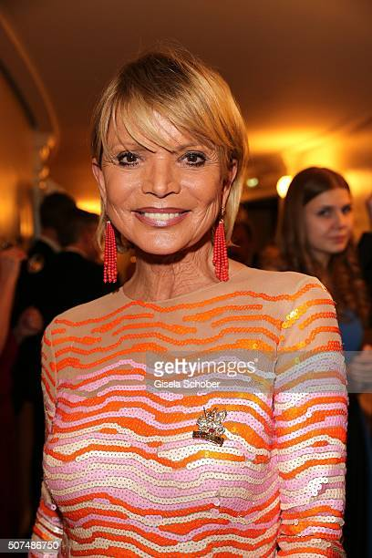 Uschi Glas wearing jewellery by Sevigne during the Semper Opera Ball 2016 at Semperoper on January 29 2016 in Dresden Germany