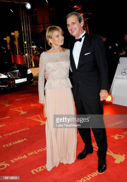 Uschi GlasHermann and husband Dieter Hermann attend the 47th Golden Camera Awards at the Axel Springer Haus on February 4 2012 in Berlin Germany