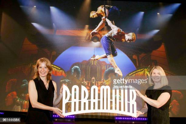 Uschi Neuss and Diane Quinn attend the presentation of the musical 'Paramour' on May 22 2018 in Hamburg Germany