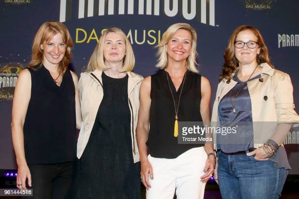 Uschi Neuss Diane Quinn Kerstin Schnitzler and Jayna Neagle attend the presentation of the musical 'Paramour' on May 22 2018 in Hamburg Germany