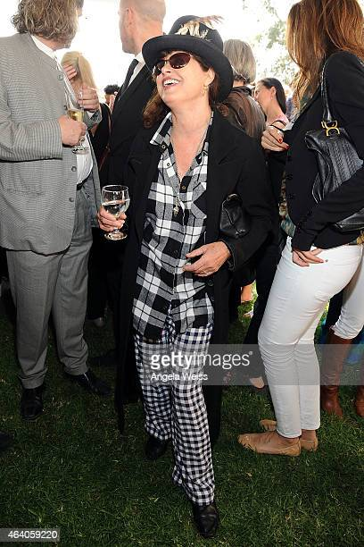 Uschi Obermaier attends the German Films and the Consulate General of the Federal Republic Of Germany's German Oscar nominees reception at Villa...