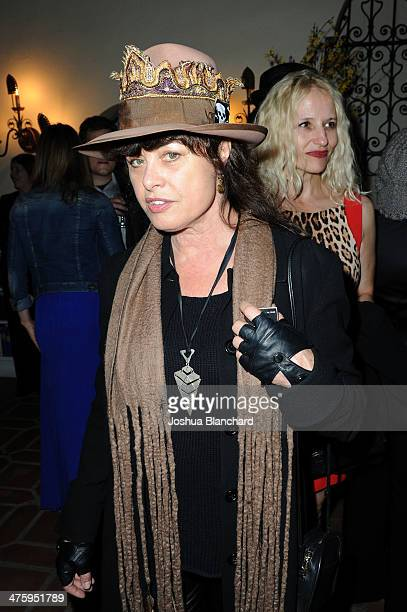 Uschi Obermaier attends the German Oscar Nominees Reception at the Villa Aurora on March 1 2014 in Pacific Palisades California