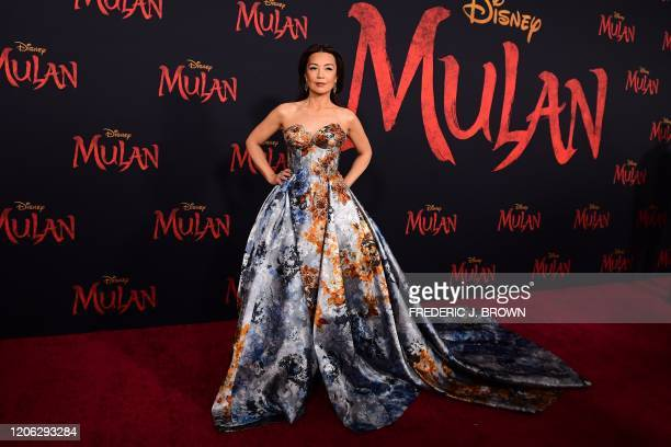 US/Chinese actress MingNa Wen attends the world premiere of Disney's Mulan at the Dolby Theatre in Hollywood on March 9 2020