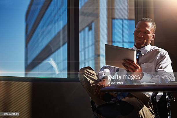 use a tablet to serve the needs of your clients - employment law stock photos and pictures