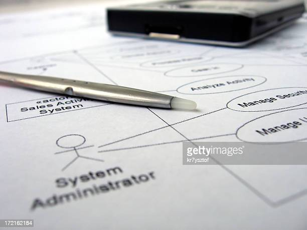 use case diagram - computer system diagram stock photos and pictures