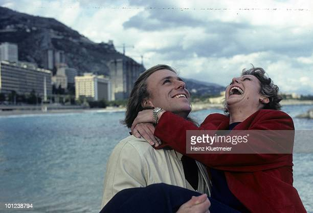 Sweden Bjorn Borg with fiancee Mariana Simionescu during photo shoot. Monte Carlo, Monaco 3/1/1980--3/31/1980 CREDIT: Heinz Kluetmeier