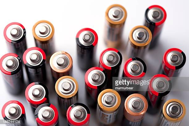 used batteries - alkaline stock pictures, royalty-free photos & images