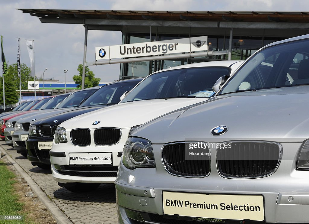 BMW Automobiles In Showroom During Company AGM : News Photo