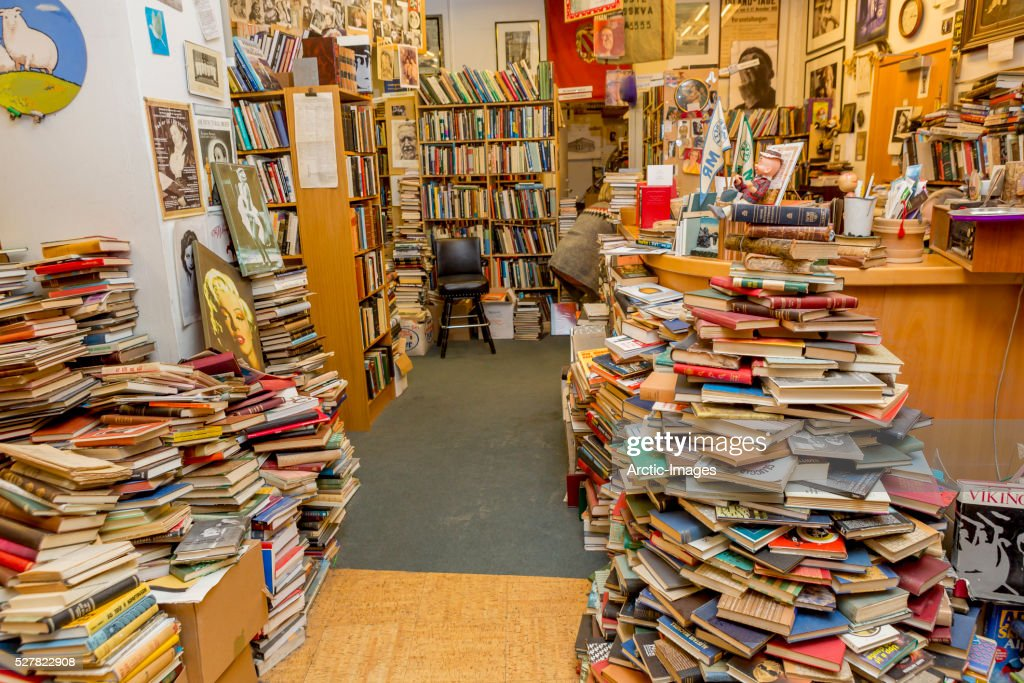 Used book store in Reykjavik, Iceland : Stock Photo