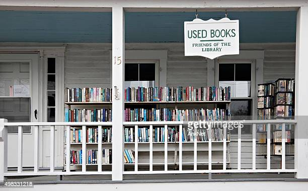 used bookshop in boothbay harbor, maine - reseller stock photos and pictures