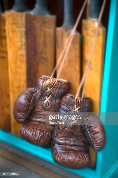 used boxing gloves - boxing stock pictures, royalty-free photos & images