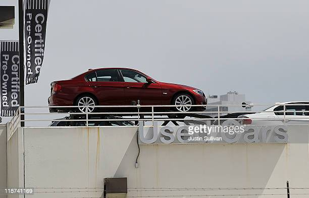 A used car is displayed on a sales lot on June 9 2011 in San Francisco California As the economy continues to falter and Japan recovers from the...