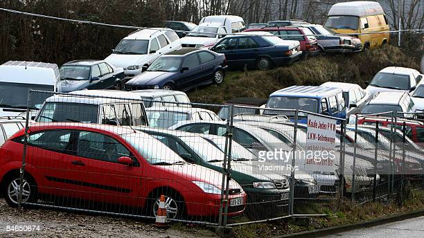 Used Cars Sit In A Secondhand Car Dealer Lot On February 4 2009 Cologne Germany