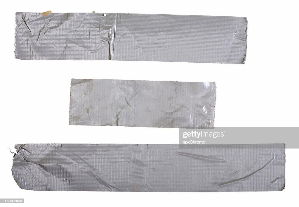 Used Duct Tape Pieces : Stock Photo