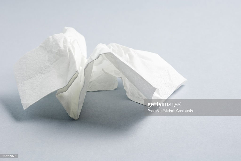 Used facial tissue : Stock Photo