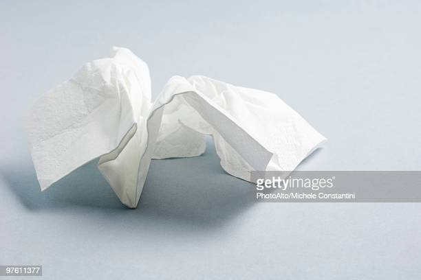 used facial tissue - handkerchief stock pictures, royalty-free photos & images