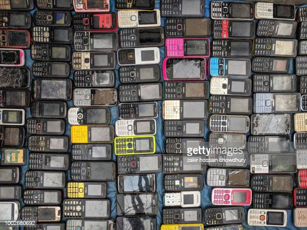 used mobile phone set - large group of objects stock pictures, royalty-free photos & images