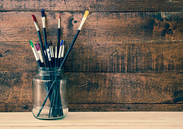 Free Paint Brush Jar Images Pictures And Royalty Free