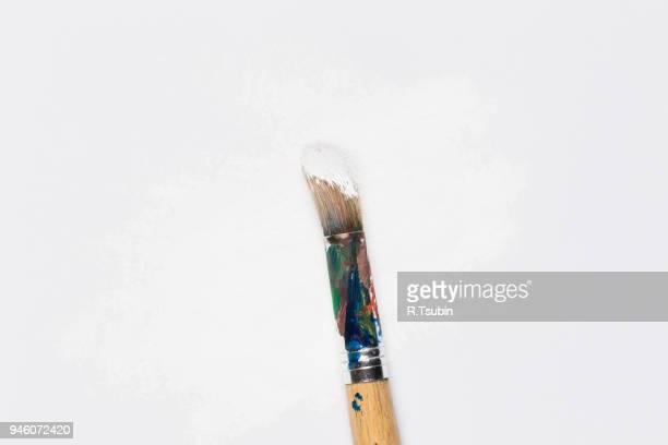 used paint brush - artist's canvas stock pictures, royalty-free photos & images
