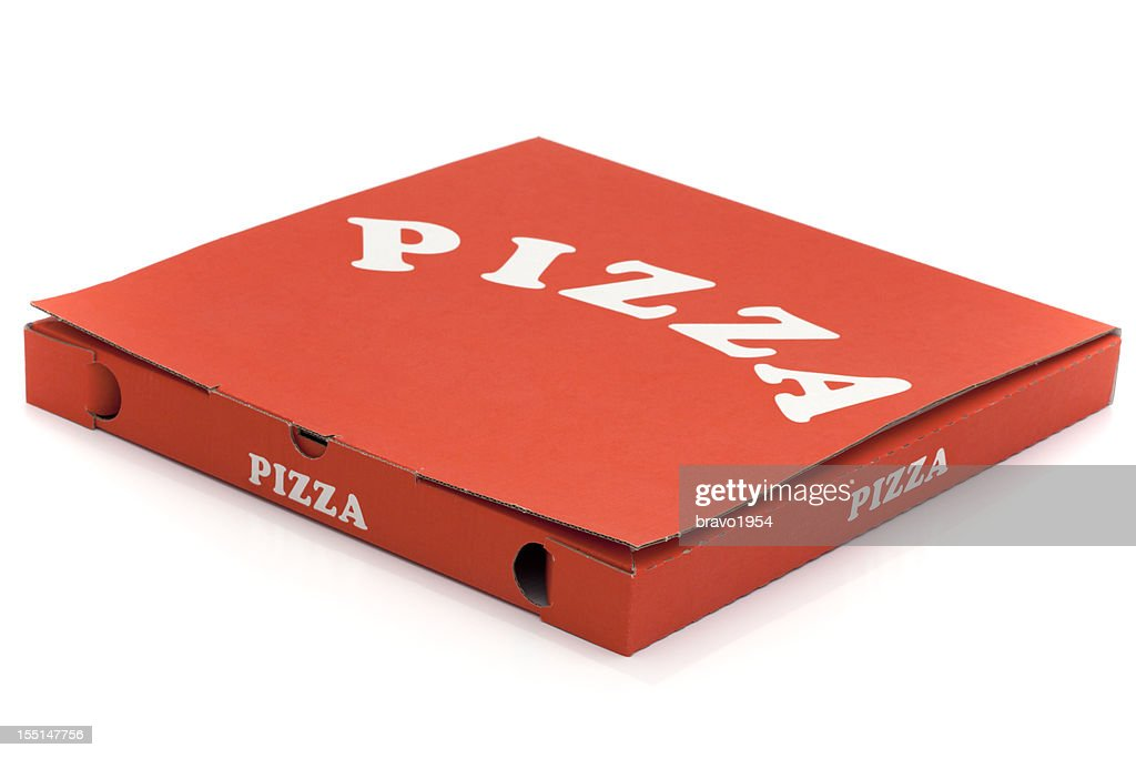 Used pizza box : Stock Photo
