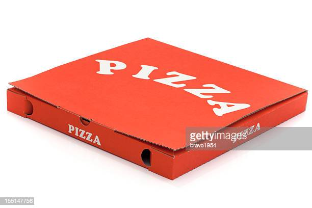used pizza box - carton stock photos and pictures