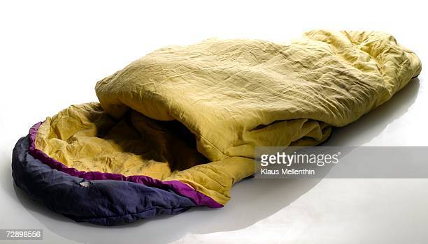 Used sleeping bag, close-up