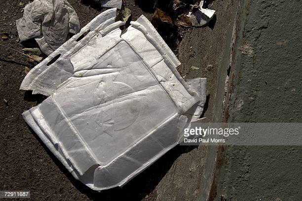 Used styrofoam cups are seen on the streets on January 1 2007 in Oakland California In an effort to curb pollution the city of Oakland on January 1...