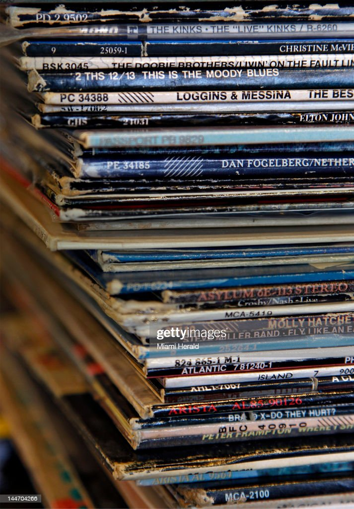 Used vinyl records from the late 70's and 80's are stacked inside inside the Radio-Active Records store in Fort Lauderdale, Florida, on May 9, 2012.