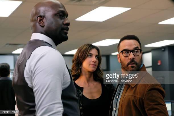 CROWD 'User Bias' Episode 104 Pictured Richard T Jones as Detective Tommy Cavanaugh Natalia Tena as Sara Morton Jeremy Piven as Jeffrey Tanner