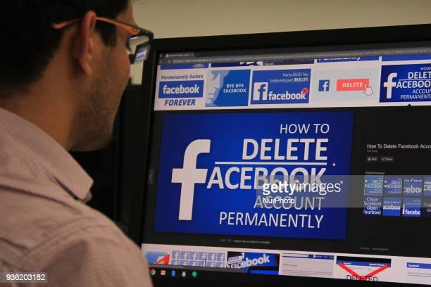 A user checks how to delete Facebook Account on a Desktop